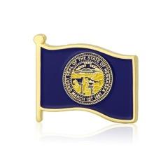 Nebraska Flag Pins