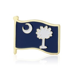 South Carolina American Flag Lapel Pin