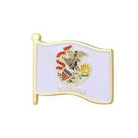 Illinos State Flag Pins