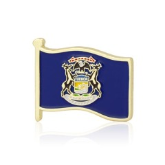 Michigan American Flag Lapel Pins