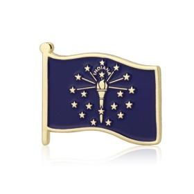 Indiana State Flag Lapel Pins