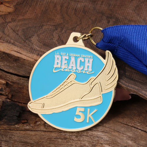 5K Race Customized Gold Medals