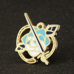 Sword With Rose Lapel Pins