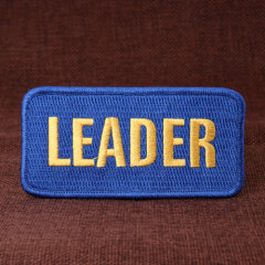 Leader Embroidered Patches
