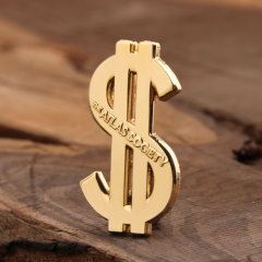Dollar Sign Lapel Pins