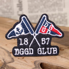 Flag Custom Embroidered Patches No Minimum