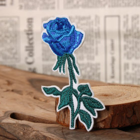 Blue Rose Custom Patches