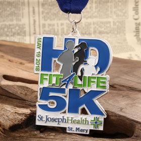 3D 5K Custom Race Medals