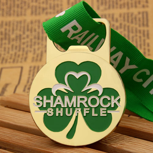 Shamrock Shuffle Custom Medals