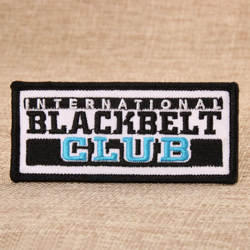 Blackbelt Club Embroidered Patches