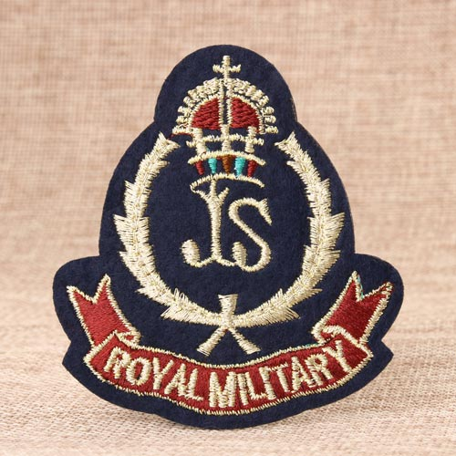 military bullion patches