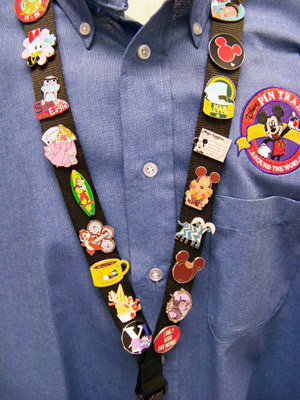 lapel pins on lanyards