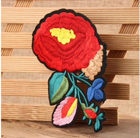 flower embroidered patches