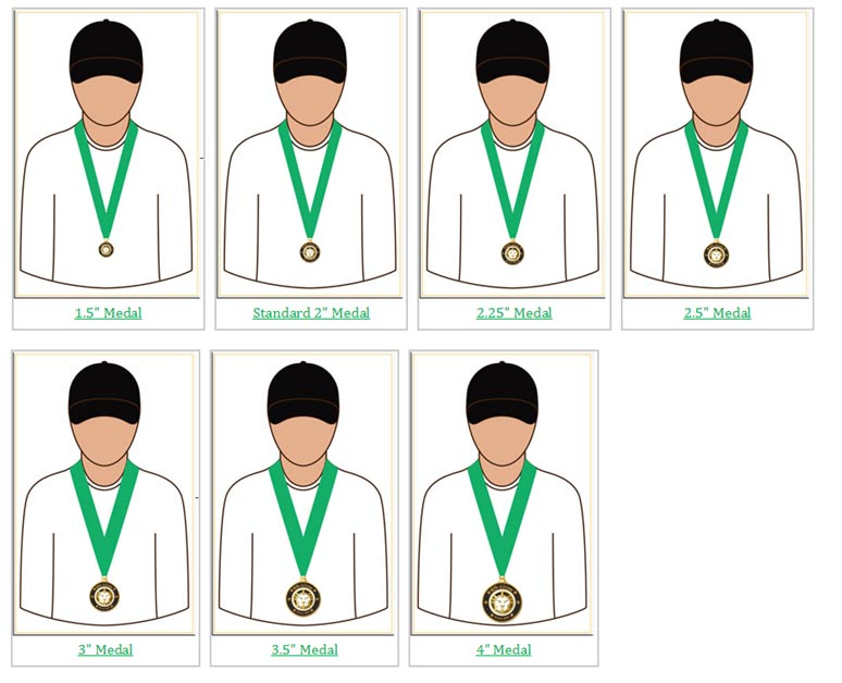 Custom Medals with Different Size