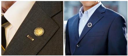 Suit lapel pins