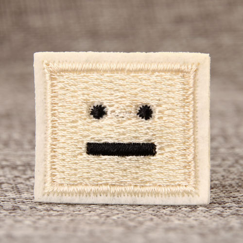 Emoticon Embroidered Patches