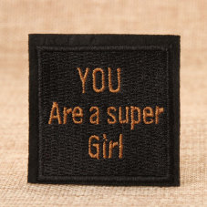 Super Girl Custom Patches
