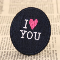 I love you Custom Embroidered Patches