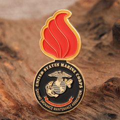 Red Fire Lapel Pin