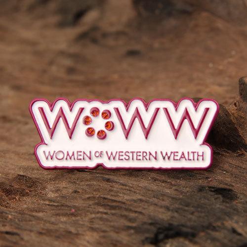 Women Wealth Lapel Pins
