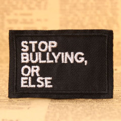 Stop Bullying Embroidered Patches
