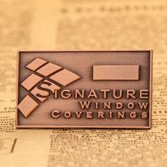 Copper square custom pins