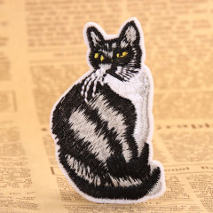 Black Cat Custom Made Patches