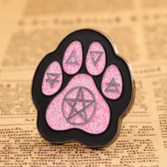 Cat footprint lapel pins