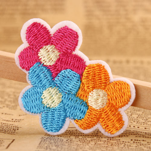 DIY Flower Embroidered Patches