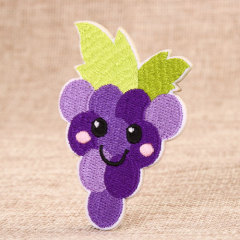 Purple Grapes Custom Embroidered Patches