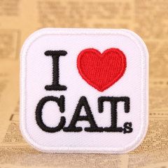 I Love Cats Custom Made Patches