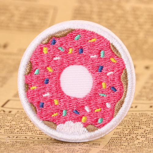Doughnut Custom Embroidered Patches