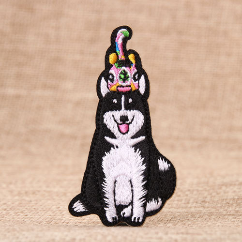 Alaskan Malamute Embroidered Patches