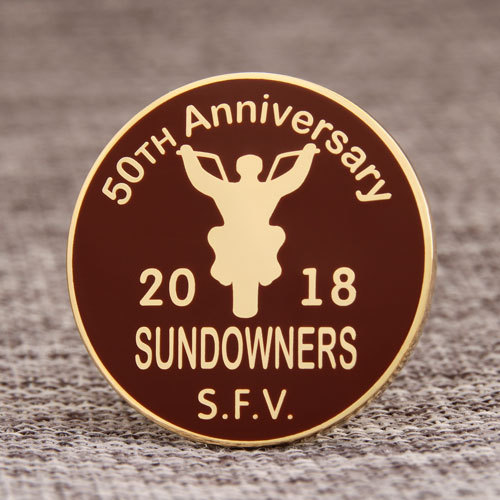 50th Anniversary custom lapel pins