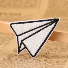 Paper Plane Embroidered Patches