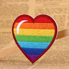 Rainbow Love Embroidered Patches