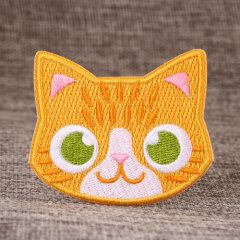 Yellow Cat Custom Made Patches