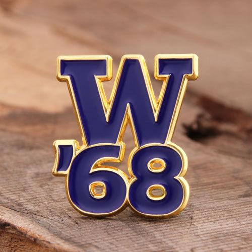 W.68 custom enamel pins