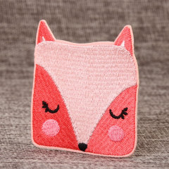 Square-faced Fox Embroidered Patches