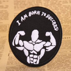 Muscular Man Custom Iron On Patches