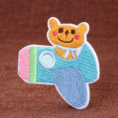 Bear Embroidered Patches