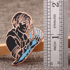 Game character lapel pins
