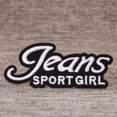 Sport Girl Embroidered Patches