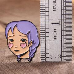 Shy girl lapel pins