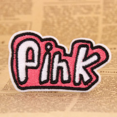 Pink Embroidered Patches