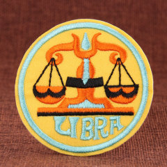 Libra Embroidered Patches