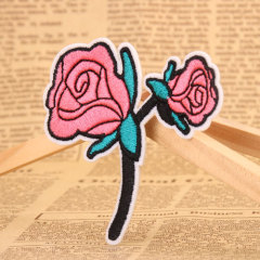 Rose Embroidered Patches