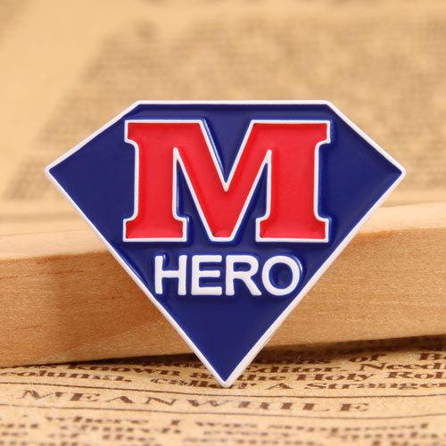 M Hero lapel pins