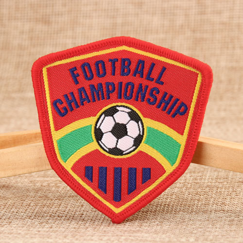 Football Embroidered Patches