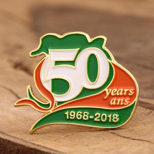 50 Years Ans Custom Pins